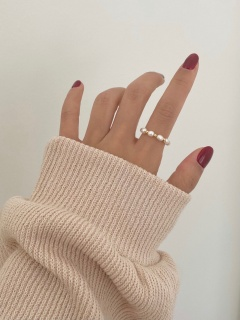 Point Pearl Ring (2color)