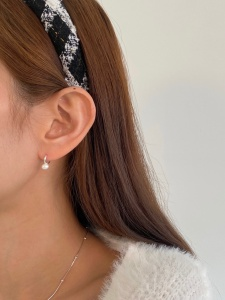 One Touch Pearl Earring (2color)