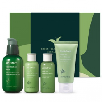 INNISFREE GREEN TEA SEED SERUM HERITAGE SET 680g (SERUM 80ml+ SKIN 50ml + LOTION 50ml + CLEANSER 50ml)