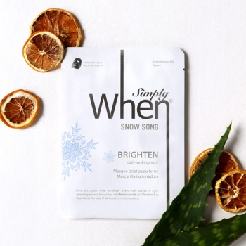 [When mask] Simply When Snow Song Brighten Sheet Mask