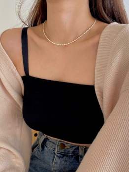 Point Pearl Necklace (2color)